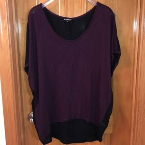 Dress Short Sleeve Maroon and Black